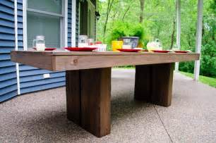 patio table designs outdoor ana white modern outdoor patio table diy projects