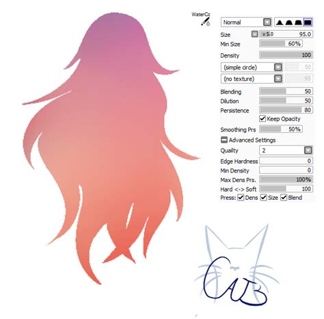 paint tool sai water brush settings 15 paint tool sai brush watercolor by catbrushes on