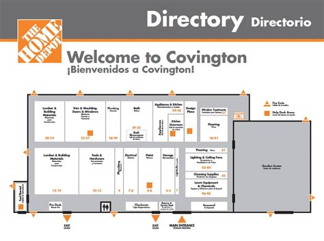 home depot store layout map