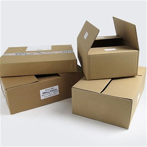 1 Parcel Tipe D Food single wall cardboard parcel boxes