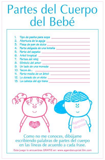 preguntas juego baby shower juegos para baby shower de ni 241 o