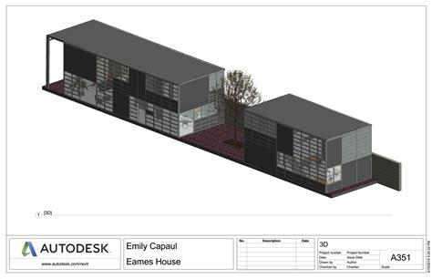 House Floor Plan Software eames house emily capaul portfolio