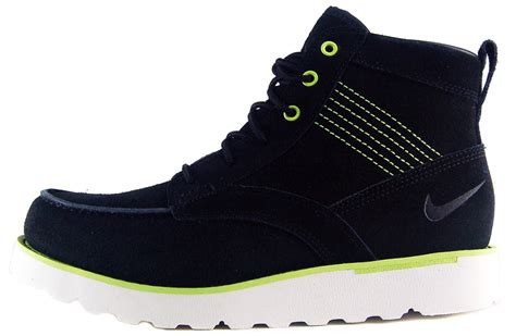nike hiking boots nike kingman leather sz 11 mens hiking boots black volt ebay