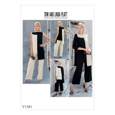 pattern review weekend 2018 vogue patterns 1581 misses tunic and pants