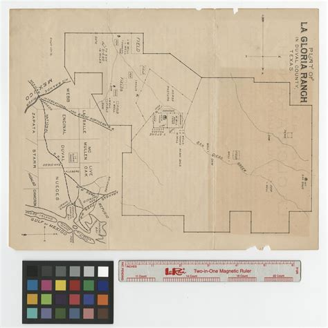 duval county texas map plat of la gloria ranch in duval county texas side 1 of 2 the portal to texas history