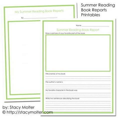 reports books summer reading program book reports worksheets for