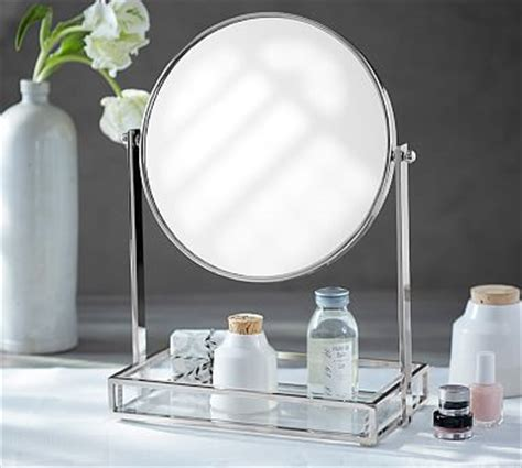 tray with mirror vanity storage pottery barn
