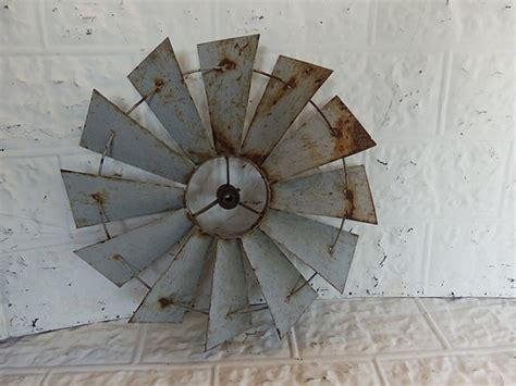 old windmill fan blades for sale vintage windmill blades garden art galvanized steel