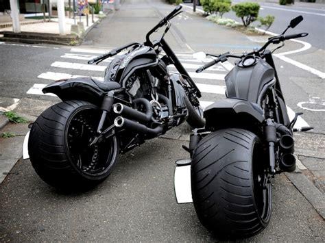 Chopper Motorrad Schwarz black fat twins totally rad choppers