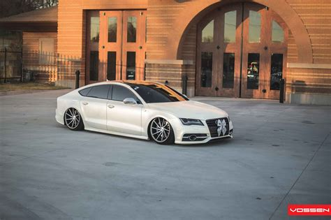 audi a7 slammed slammed audi a7 looks sharp on vossen directional wheels
