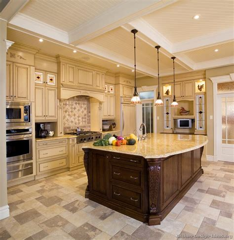 delightful Interior Decorating Company Names #8: kitchen-cabinets-traditional-two-tone-125-b1759680-antique-white-wood-hood-island-luxury.jpg