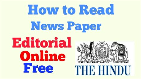 Read Me Me Me Online - how to read the hindu editorial online free editorial