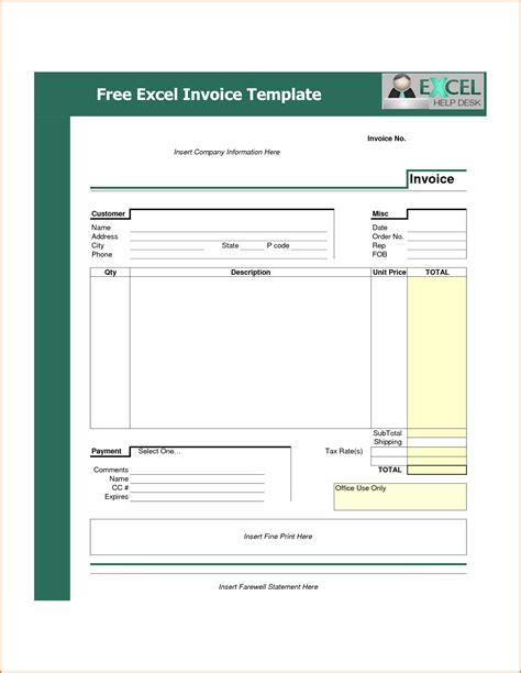 11 downloadable invoice template authorizationletters org