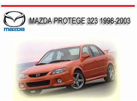 1998 mazda protege repair shop manual original mazda protege 323 1998 2003 service repair manual download manual