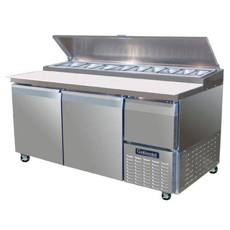 pizza prep bench shop continental refrigerator pizza prep tables