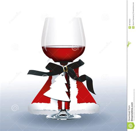 christmas wine glass svg vector of red wine glass christmas party stock photo