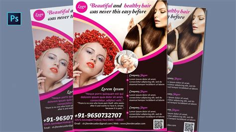 flyer design youtube flyer design in photoshop cs6 beauty salon spa flyer