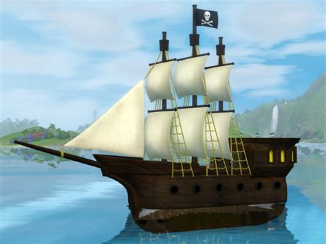 My sims 3 blog pirate ship floating house and objects by sil sharkie