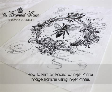 free printable fabric transfers the decorated house how to print on fabric using an