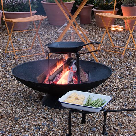 pit cooking tripod buy pit tripod cooking stand delivery by waitrose