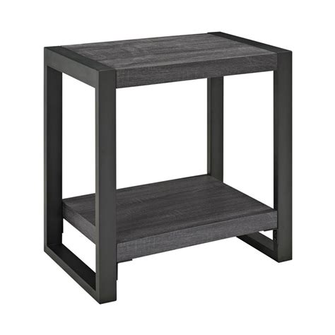 Edison Table L Walker Edison Angelo Home End Table In Charcoal W24cgstcl