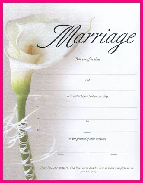 blank marriage certificate template autobiography exle essay for college botbuzz co