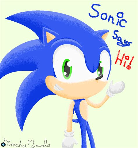 sonic painting free sonic the hedgehog pixel free to use by