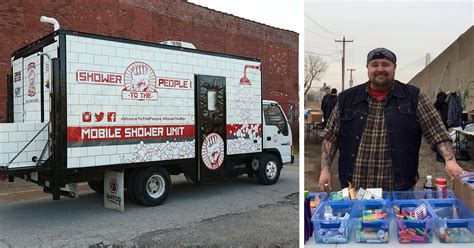 where do homeless people go to the bathroom this man turned old truck into mobile shower to help