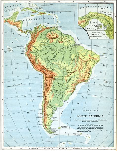 south america physical map physical map of south america and mexico