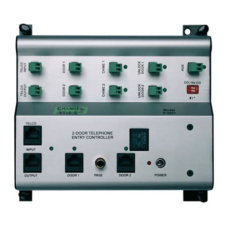 Front Door Intercom Systems For Home Front Door Intercom Controller For 2 Doors P 0921 Channel Vision Technology