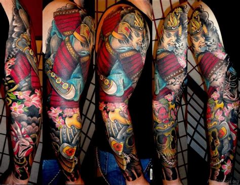 full sleeve tattoo designs japanese 87 wonderful warrior tattoos on arm