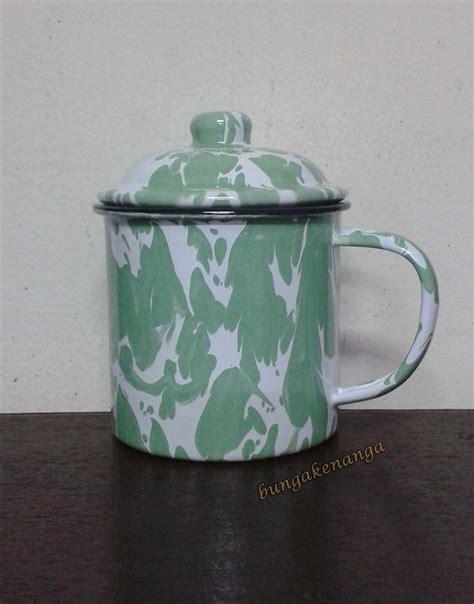 Cangkir Blirik Enamel Vintage Jadul Lawasan 10 Cm jual mug gelas cangkir enamel kaleng blurik blirik jadul 10 cm bunga kenanga