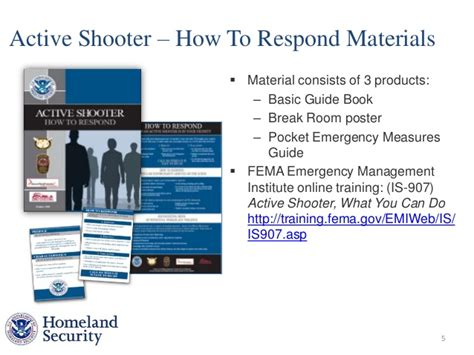 active shooter plan template andrea schultz dept of homeland security power point