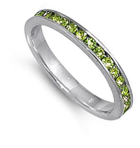 eternity ring new 925 sterling silver thin stackable band