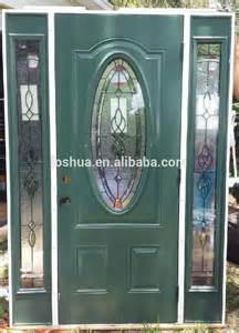 Leaded Glass Front Door Inserts Leaded Glass Front Exterior Entry Door With Sidelites Buy Oval Glass Entry Door Commercial