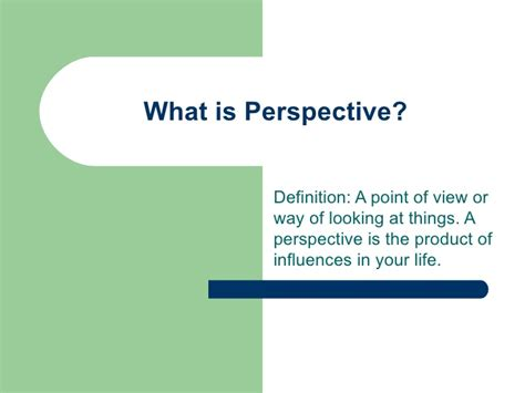 What Is The by What Is Perspective