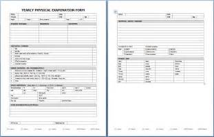 Physical Template For Students by Yearly Physical Examination Form Printable Forms