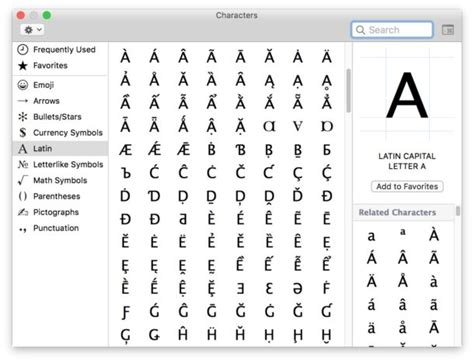 unique characters mac keyboard letters docoments ojazlink