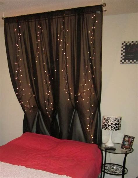 string lights behind sheer curtain diy headboards curtain headboards and sheer curtains on