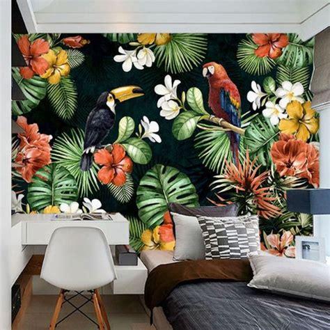 wallpaper mural berkonsep floral   menawan