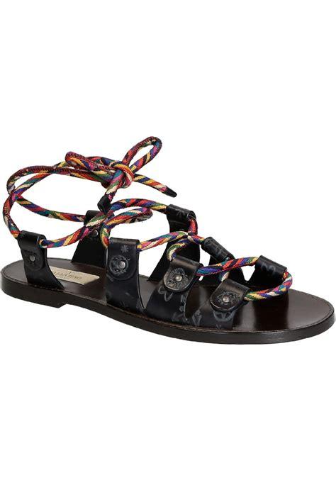Salvatore Feragamo 3129 1 3in1 valentino s flat sandals in anthracite leather italian boutique