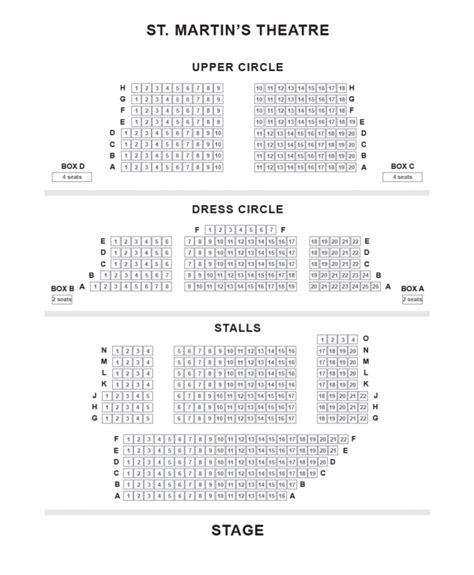 seating plan leicester square theatre st martin s theatre show tickets and information