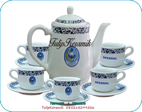 Teko Set Keramik Gagang Bambu jual cofee set promosi teko dan cangkir set harga murah