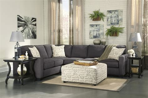 Furniture Alenya by Alenya Charcoal 3 Sectional Sofa For 770 00