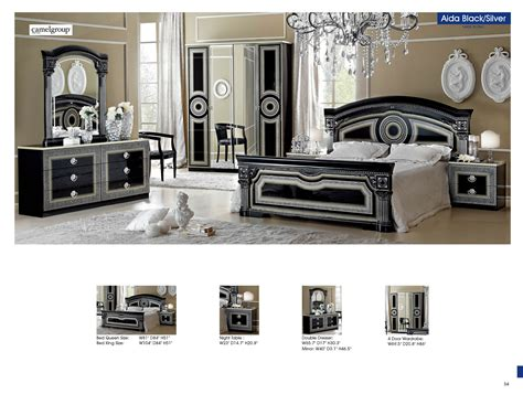 black and silver bedroom set aida black w silver camelgroup italy classic bedrooms