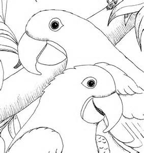 Blue Macaw Coloring Page Coloring Pages