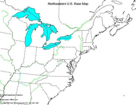 northeast usa outline map blank northeast region states map