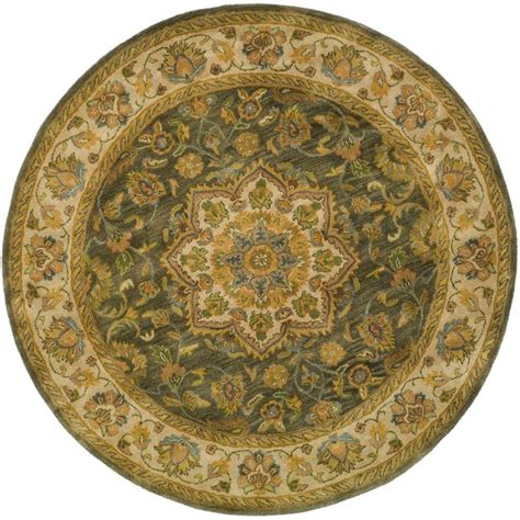 Safavieh Heritage Green Taupe 3 Ft 6 In X 3 Ft 6 In 3 Foot Area Rugs