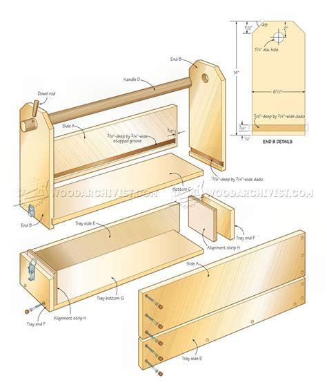 How To Make A Tool Box Out Of Paper - easy to build toolbox plans woodarchivist