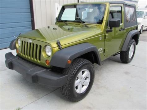 Automatic Jeep Soft Top Find Used 2008 Jeep Wrangler X 4wd Convertible Soft Top 08